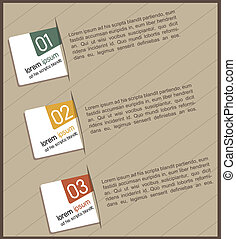 Design of advertisement numbers - vintage design of...