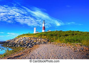 Montauk Lighthouse - Lighthouse in Montauk Point New York...