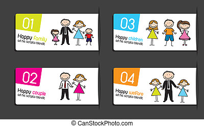 labels with families