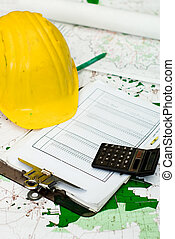 Construction finances - Objects representing the financial...