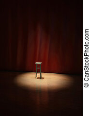 On Stage - empty stool on stage of a theater, concert or...