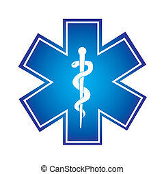 medical symbol - blue medical symbol isolated over white...