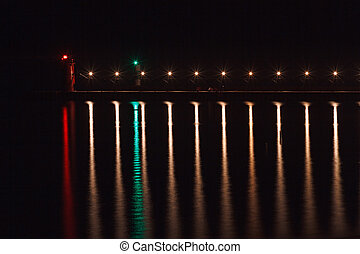 South Haven Light with Reflections