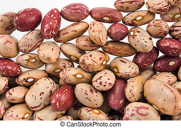 Cranberry beans as background