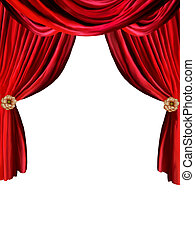 curtain background - red curtain in withe background with...