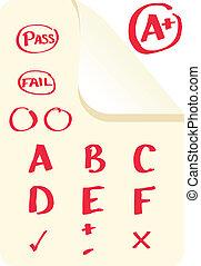 School Grades - School grades and examination marks in A+,...
