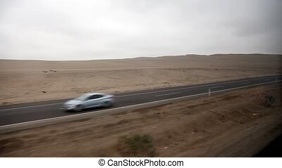 car trip on PANAMERICANA - video footage of a car trip on...