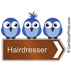 hairdresser - Bird requiring the services of a hairdresser...
