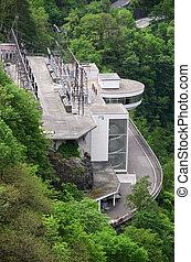 Power station in Verzasca valley, Switzerland