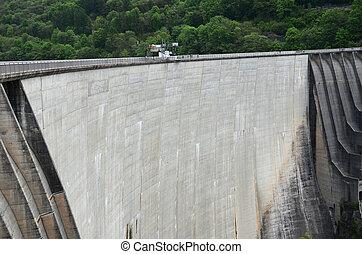 Contra Dam in Verzasca valley, Switzerland