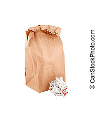 isolated paper bag