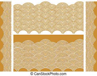 Auspicious golden wave