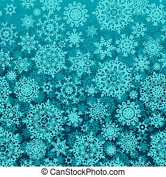 Seamless snow flakes vector pattern EPS 8 vector file...