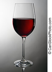 wineglass with redwine - wineglassful with redwine