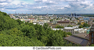 Panorama districts of Kiev Podol and Obolon - Panorama...