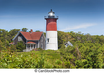 Nauset lighthouse in Eastham, Cape Cod, Massachusetts, USA