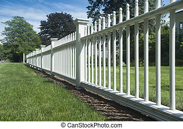 Picket fence - White picket fence in perspective