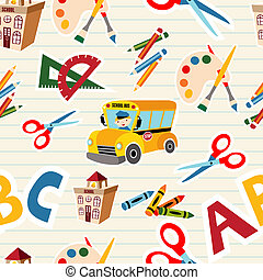 Back to school tools and supplies - Set of vector School...