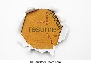 Resume paper hole