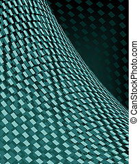 Green grid - Abstract illustration of green polygons