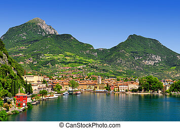 the city of Riva del Garda,Italy - the city of Riva del...