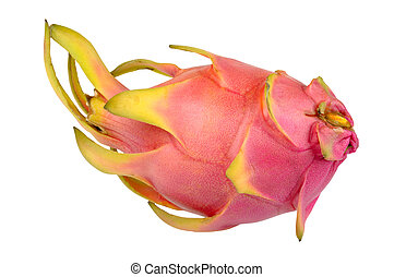 ripe pitahaya isolated on a white background