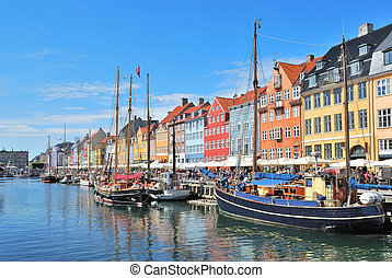 Copenhagen, Nyhavn - One of the most beautiful and romantic...