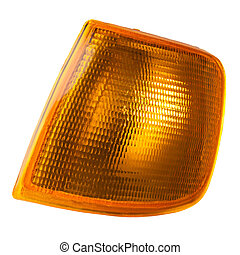 front indicator lamp - front turn signal lamp with a yellow...