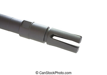 Rifle muzzle - Flash hider that is on the barrel end of an...