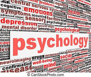 Psychology message conceptual design. Mental health sign...