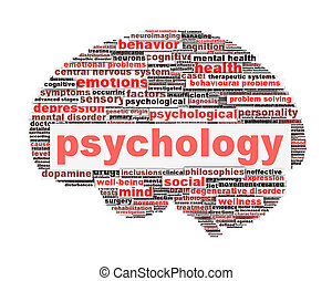 Psychology symbol design isolated on white Mental health...