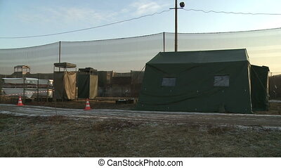 View of military field camp - View of military camp