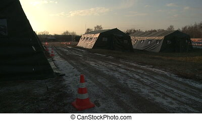 Tents in military camp - View of military camp
