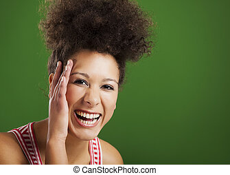 African woman laughing - Beautiful African woman laughing...