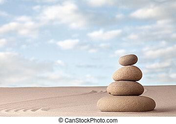 Meditation zen garden background