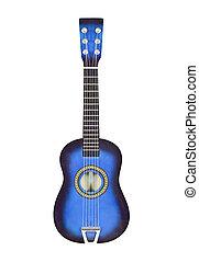 Blue Toy Ukulele Size Guitar Isolated