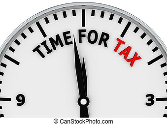Tax Time Reminder - Rendered artwork with white background