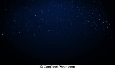 Twinkling Stars 2 - Stars twinkle over the horizon in the...