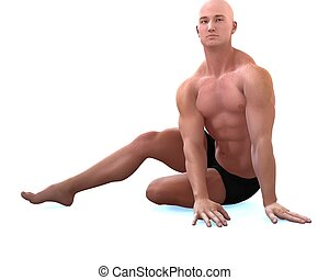 supple - a male model in a pose