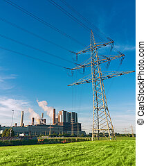 power plant - sunny day