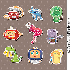 cartoon Home Appliances stickers
