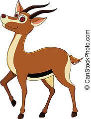 cute gazelle cartoon - vector illustration of gazelle...