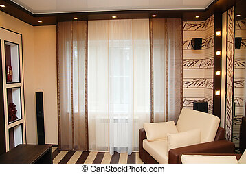 curtains in a room