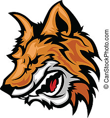 Snarling Fox Mascot Vector Graphic - Fox Mascot with...
