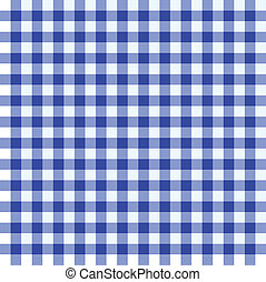 Blue and white tablecloth - Blue and white checked...