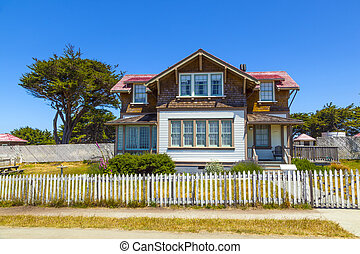 home of lightkeeper of Point Cabrillo Lighthouse - historic...