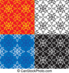 Set of 4 seamless ornaments