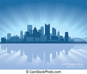 Pittsburgh, Pennsylvania skyline with reflection in water
