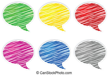 Round speech bubbles