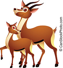 adult cartoons funny deer - vector illustration of adult...